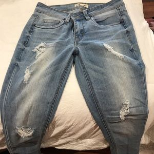 Pants - Ripped light blue jeans